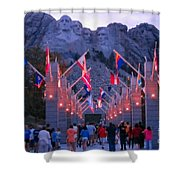 Mount Rushmore At Night Shower Curtain