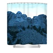 Mount Rushmore Blues Shower Curtain