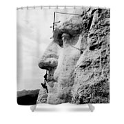 Mount Rushmore Construction Photo Shower Curtain