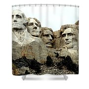 Mount Rushmore Presidents Shower Curtain