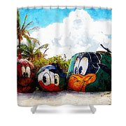Mount Rustmore Castaway Cay Shower Curtain