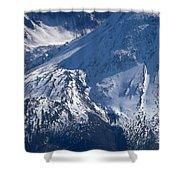 Mount Saint Helens Cauldera  Shower Curtain