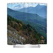 Mount Saint Helens Majesty Shower Curtain