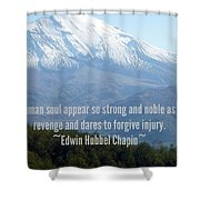 Mount Saint Helen's Text Shower Curtain