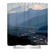 Mount Saint Helens Valley  Shower Curtain
