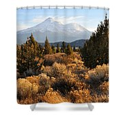Mount Shasta In The Fall  Shower Curtain by Gary Whitton