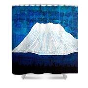 Mount Shasta Original Painting Shower Curtain