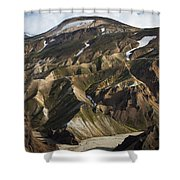 Mount Skalli From Mount Blahnukur Shower Curtain