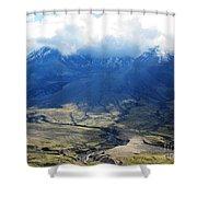 Mount St. Helen's Cloud Kissed Shower Curtain