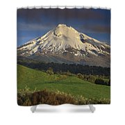 Mount Taranaki Western Flanks New Shower Curtain