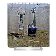 Mount Teide Cable Car Shower Curtain