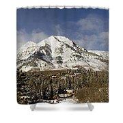 Mount Timpanogos Panorama Shower Curtain