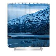 Mount Timpanogos Winter Evening Shower Curtain