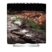 Mount Trashmore - Series Iv - Painted Photograph Shower Curtain