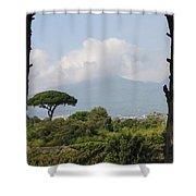 Mount Vesuvius Shower Curtain