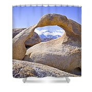 Mount Whitney Framed By The Mobius Arch Shower Curtain