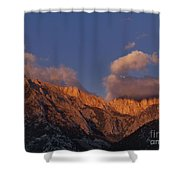 Mount Whitney In Clouds Alabama Hills Eastern Sierras California  Shower Curtain