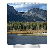 Mount Yamnuska Shower Curtain