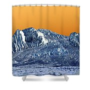 Mountain Abstract  Shower Curtain