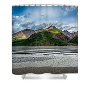 Mountain Across The River Shower Curtain