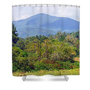Mountain And Valley Near Brevard Shower Curtain