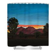 Mountain At Night Shower Curtain