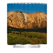 Mountain Autumn Sunrise Shower Curtain