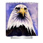 Mountain Bald Eagle Shower Curtain