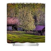 Mountain Barns In North Carolina Shower Curtain