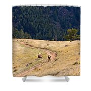 Mountain Biker Shower Curtain