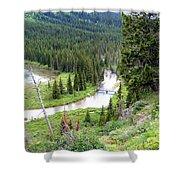 Mountain Bridge Shower Curtain