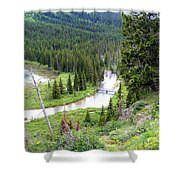 Mountain Bridge Shower Curtain