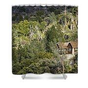 Mountain Cabin - Sierra Nevadas, California Usa Shower Curtain