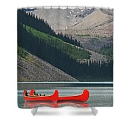 Mountain Canoes Shower Curtain