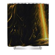 Mountain Cave Shower Curtain