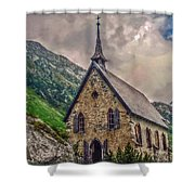 Mountain Chapel Shower Curtain