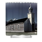 Mountain Church Shower Curtain