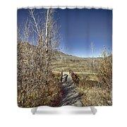 Mountain Creek Bridge Shower Curtain