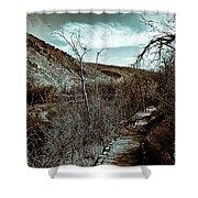 Mountain Creek Path-sundance Utah V3 Shower Curtain