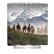 Mountain Dust Storm Shower Curtain