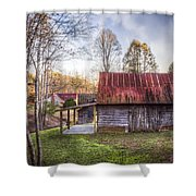 Mountain Farm Shower Curtain