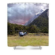 Mountain Flight Shower Curtain