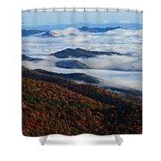 Mountain Fog - Blue Ridge Parkway Shower Curtain