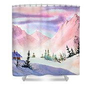 Mountain Glow Shower Curtain