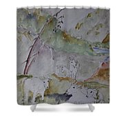 Mountain Goats In Spearfish Canyon Shower Curtain