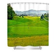 Mountain Golf Shower Curtain
