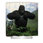 Mountain Gorilla Shower Curtain