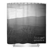 Mountain Grey Shower Curtain