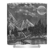 Mountain Home Shower Curtain