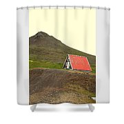 We Will Live Together In A Humble Mountain Hut  Shower Curtain